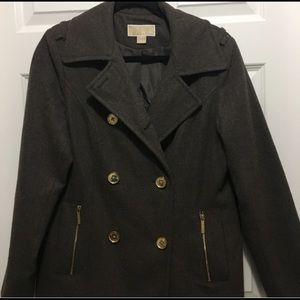 Michael By Michael Kors Double Breasted Peacoat
